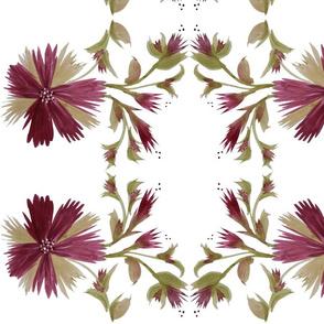 Burgundy Floral Tahiti Treat
