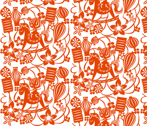 Rockin__New_Year fabric by nelly_j on Spoonflower - custom fabric
