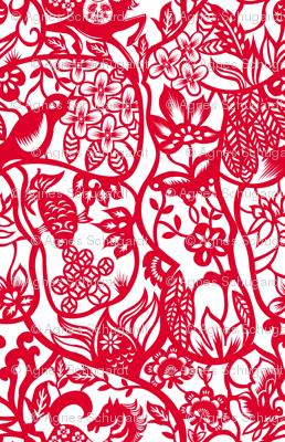 Chinese Paper Cut Pattern
