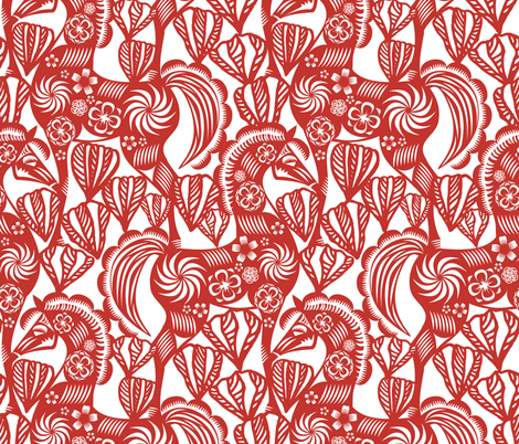 Chinese Paper Cutting Designs | Spoonflower Design Challenge