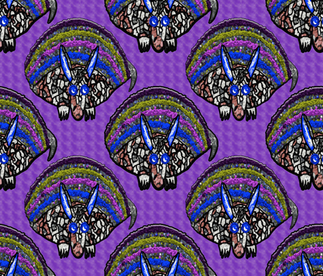 Jazzy Armadillos fabric by anniedeb on Spoonflower - custom fabric