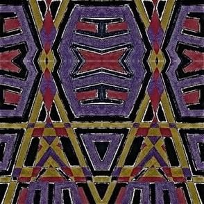 tribal native in black