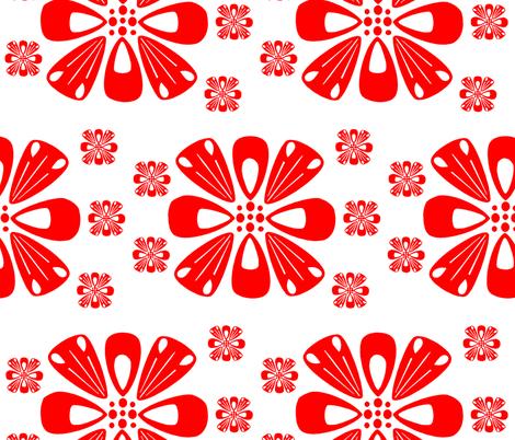 Chinese Flower  fabric by fashioningdesigngirl on Spoonflower - custom fabric