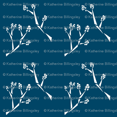 Triangle Branches Blue and White