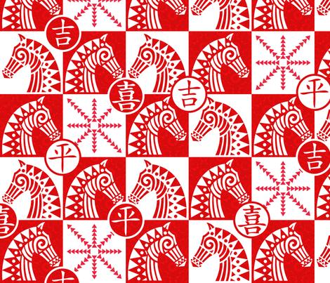 Xiangqi! fabric by celiaforrester on Spoonflower - custom fabric