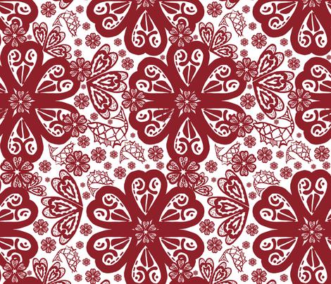 Daisy Chain Koi fabric by slumbermonkey on Spoonflower - custom fabric
