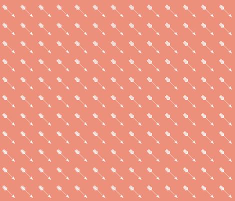 Arrow Diagonal Light Coral fabric by thistleandfox on Spoonflower - custom fabric