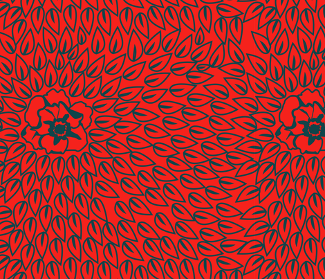 Red Petal Fortress fabric by sarah72 on Spoonflower - custom fabric