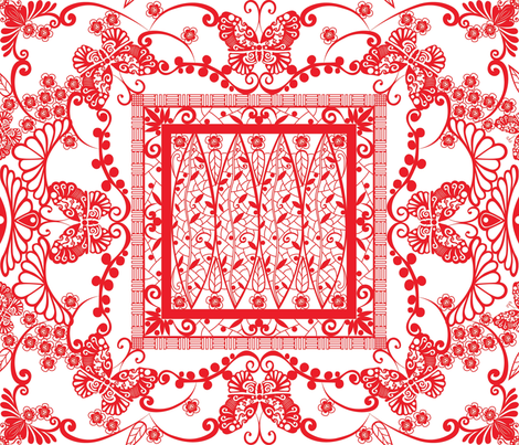 Butterfly Secret Garden fabric by liluna on Spoonflower - custom fabric