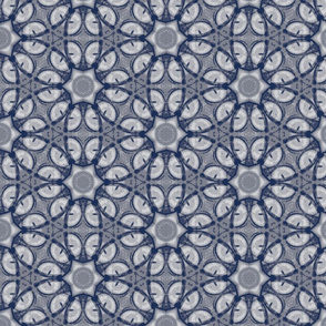 Sphynx Cat Mitchie Eye Abstract Dusty Blue Tones