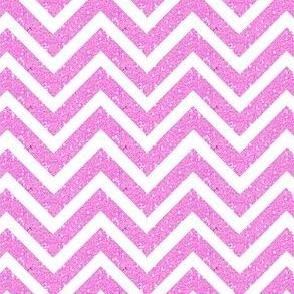 Chevron Sparkle glitter Stripe Pink/White Med
