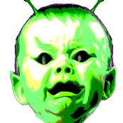 Green Alien Space Baby