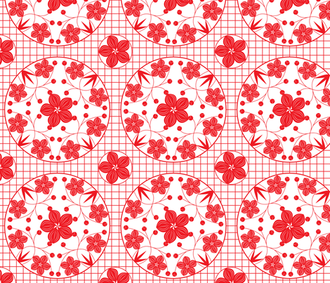 papercut_flowers fabric by hmooreart on Spoonflower - custom fabric