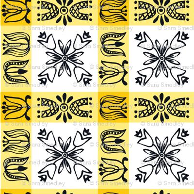 Dutch Check - yellow