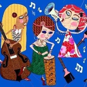 The Jazzy Jezebels, blue, large scale