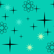 Atomic Starburst on Turquoise