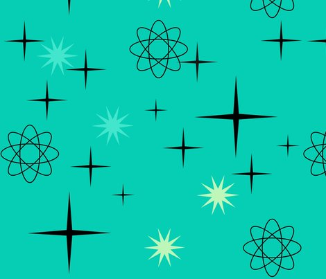 1950s wallpaper designs starburst-#15