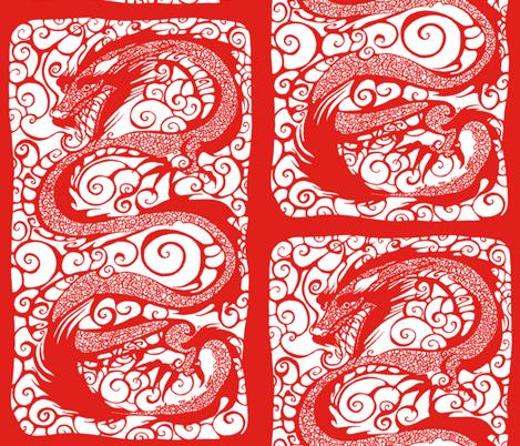NIB Red Dragon III fabric by art_rat on Spoonflower - custom fabric