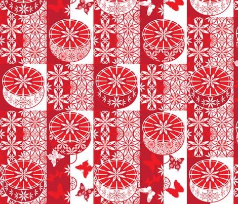 Oriental Poppy fabric by paula's_designs on Spoonflower - custom fabric
