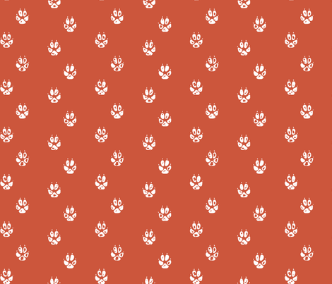Red Fox Paw Prints fabric by mrshervi on Spoonflower - custom fabric