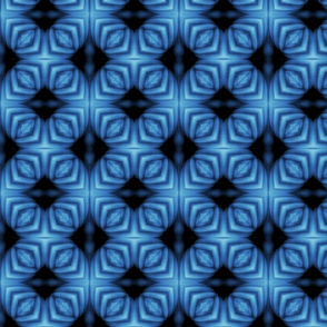 Bella Sphynx Wrinkles in Blue Lattice Gridwork