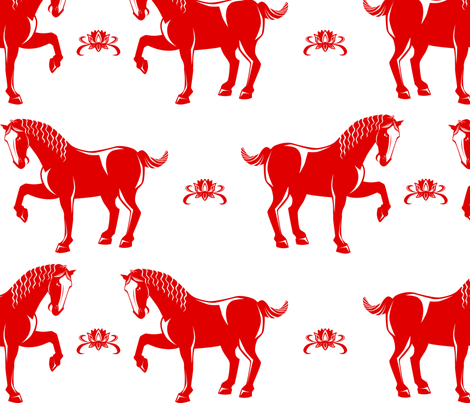 Year of the Horse fabric by sehnsational_designs on Spoonflower - custom fabric