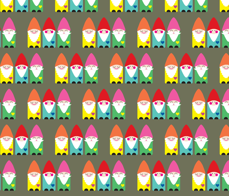 BFF Gnomes fabric by littleoddforest on Spoonflower - custom fabric
