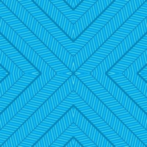 Chevron Stars Blue
