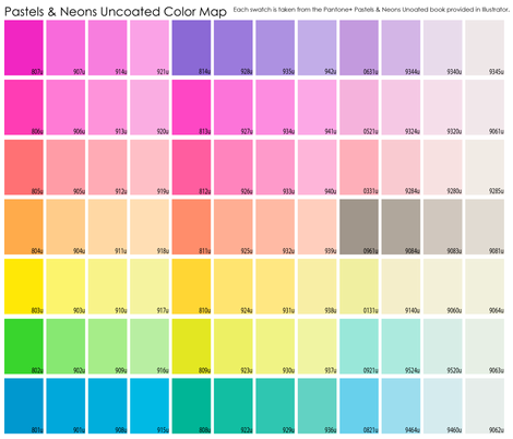 neon & pastel uncoated color map fabric by chantae on Spoonflower - custom fabric