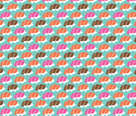 Sashimi Hedgehogs fabric by littleoddforest on Spoonflower - custom fabric