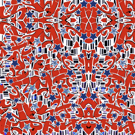 Americana fabric by whimzwhirled on Spoonflower - custom fabric