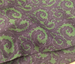 Whorls in purple and green