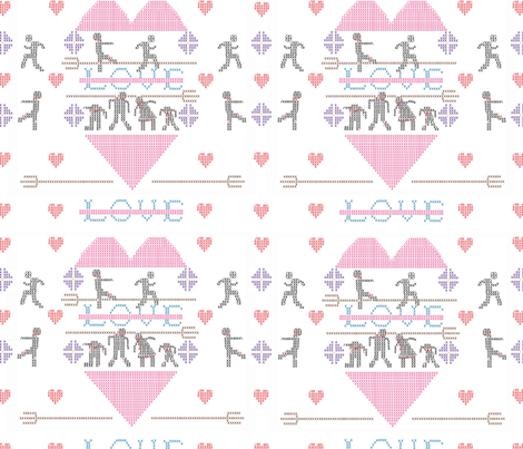 ColleenAntiValentinebig fabric by colleen_currans_bush on Spoonflower - custom fabric
