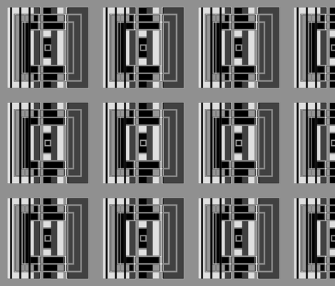 Black and White Art Deco Squares © Gingezel™ fabric by gingezel on Spoonflower - custom fabric