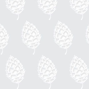 Pine Cones in silver grey