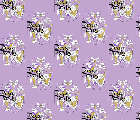 Rosa Parks Toile/Purple fabric by menny on Spoonflower - custom fabric