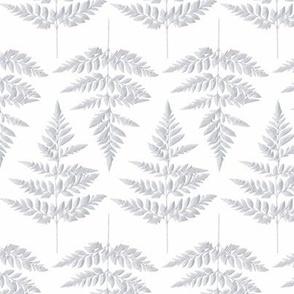 Fern leaf in silver grey