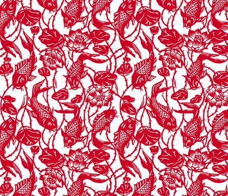 Magic Carp fabric by theinklab on Spoonflower - custom fabric
