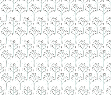 Woods in Sage/Charcoal fabric by torie_jayne on Spoonflower - custom fabric