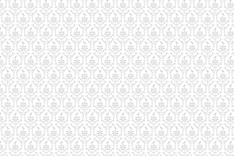 Bird Damask in White/Silver grey fabric by torie_jayne on Spoonflower - custom fabric