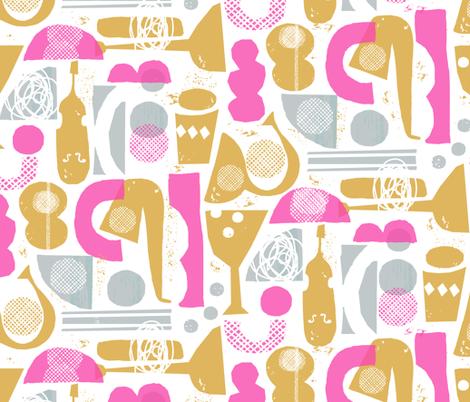 funky jazz fabric by ottomanbrim on Spoonflower - custom fabric
