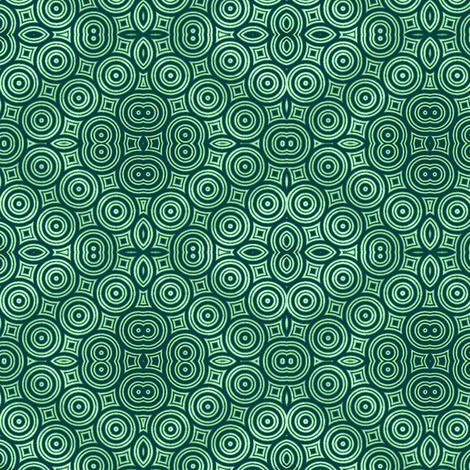 Green Donuts in the Twilight Zone fabric by clotilda_warhammer on Spoonflower - custom fabric