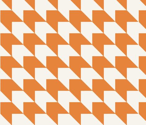dogtooth_orange fabric by myracle on Spoonflower - custom fabric