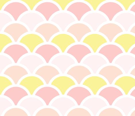 mermaid pink pastel fabric by myracle on Spoonflower - custom fabric