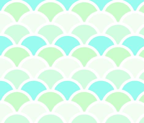 mermaid green fabric by myracle on Spoonflower - custom fabric