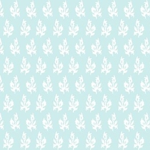 Maya block print in Duck egg blue