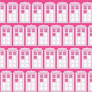 pink police boxes reversed