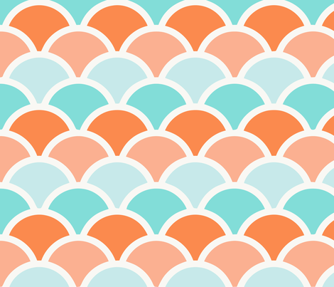 mermaid orange fabric by myracle on Spoonflower - custom fabric