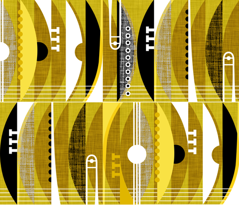 Rhythm n' Brass fabric by spellstone on Spoonflower - custom fabric
