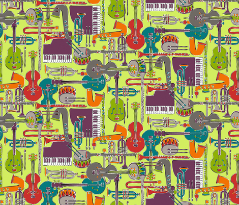 weave jazz multi fabric by scrummy on Spoonflower - custom fabric